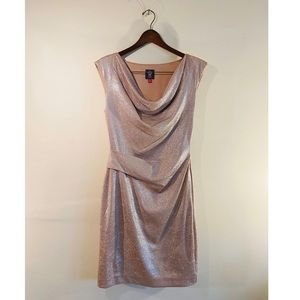 Vince Camuto champagne cocktail dress